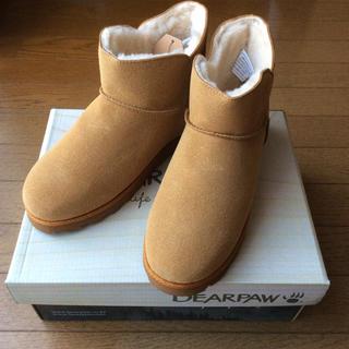 ベアパウ(BEARPAW)の新品 BEARPAW ベアパウ ムートンタイプ ブーツ US7 ショート(ブーツ)