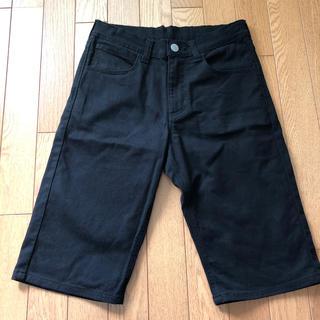 エドウィン(EDWIN)のEDWIN エドウィン ハーフパンツ 170cm ブラック デニム パンツ(パンツ/スパッツ)