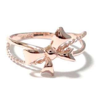 ✨定価5980円✨ リボン ピンキー SILVER925 ピンクゴールド 指輪