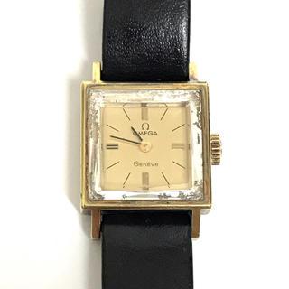 オメガ(OMEGA)のOMEGA オメガ レディース 腕時計 時計 金具 レザー  本革 ブラック(腕時計)