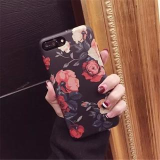 お洒落 iPhone7 iPhone8 フラワー バラ柄 ソフトケース