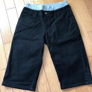 エドウィン(EDWIN)のEDWIN エドウィン ハーフ パンツ 150 ブラック(パンツ/スパッツ)