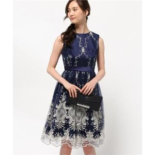 グレースコンチネンタル(GRACE CONTINENTAL)のGRACE CONTINENTAL チュールスカラ刺繍ドレス(ひざ丈ワンピース)