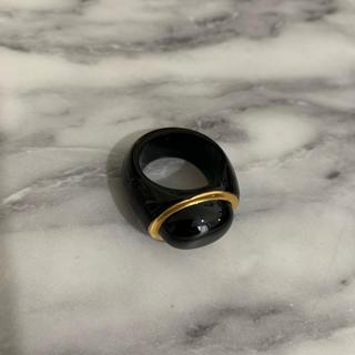 Baccarat - Baccarat  美品  リング  バカラ  指輪  ブラック  ゴールド