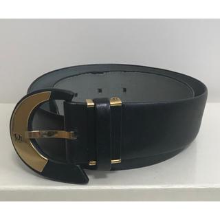 クリスチャンディオール(Christian Dior)のChristian Dior ディオール ベルト 金 × 黒(ベルト)