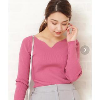 エヌナチュラルビューティーベーシック(N.Natural beauty basic)のピンクのトップス(ニット/セーター)
