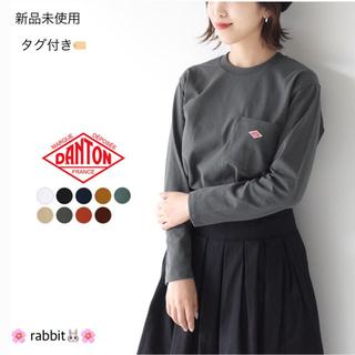 DANTON - 2019秋冬 DANTON🌱ポケット付き ロングTシャツ クルーネック 長袖