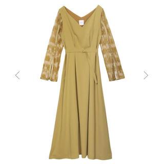 アメリヴィンテージ(Ameri VINTAGE)のAmeri vintage Lace sleeve dress(ロングワンピース/マキシワンピース)