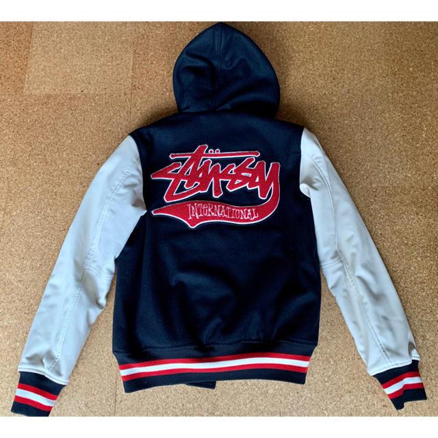 STUSSY(ステューシー)のstussy(ステューシー) スタジャン パーカー付 ※クリーニング済 メンズのジャケット/アウター(スタジャン)の商品写真