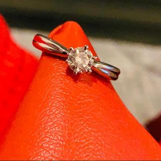 pt900 高品質ダイヤ 0.436ctカラット 鑑定書付き(リング(指輪))
