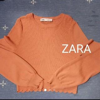 ザラ(ZARA)のZARA 細リブニット サーモンピンク(ニット/セーター)