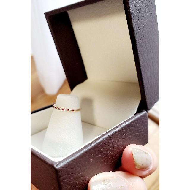 4℃(ヨンドシー)の4℃◇ピンキーリング◇ルビー&ダイヤ レディースのアクセサリー(リング(指輪))の商品写真