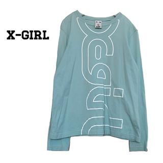X-girl - 美品*X-girl ロゴロンT エックスガール ミントカラー