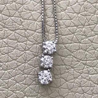 美品 Pt900 ダイヤモンド トリロジー ネックレス