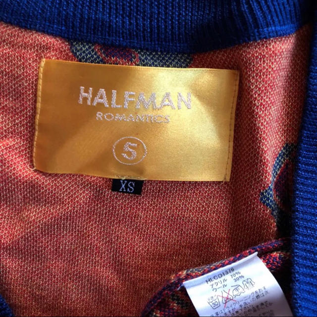 HALFMAN(ハーフマン)のHALFMAN ROMANTICS 総柄ロングカーディガン レディースのトップス(カーディガン)の商品写真