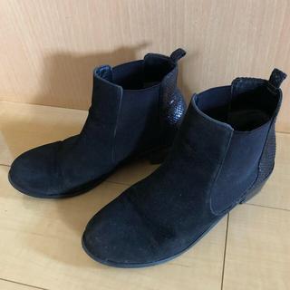 アーバンリサーチ(URBAN RESEARCH)のブラック ショートブーツ(ブーツ)