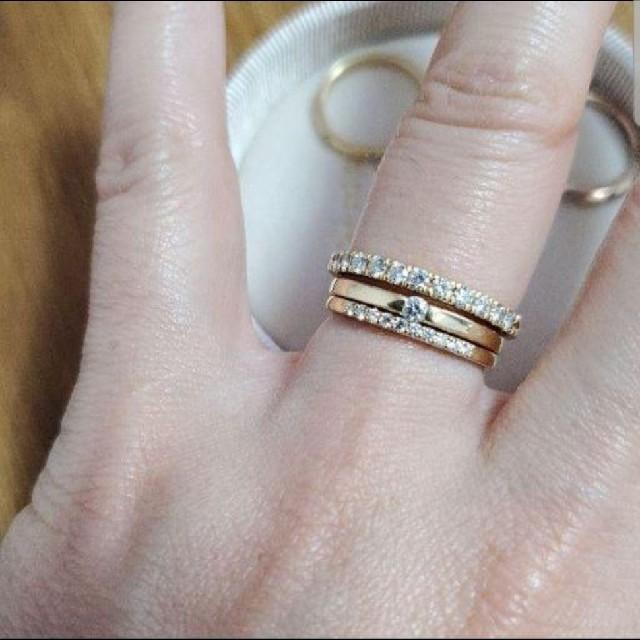Vendome Aoyama(ヴァンドームアオヤマ)の最終お値下げ オレフィーチェ リサ リング 9号 YG 18k ダイヤエタニティ レディースのアクセサリー(リング(指輪))の商品写真