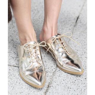 アメリヴィンテージ(Ameri VINTAGE)のAmeri VINTAGE バブシュー ゴールド(ローファー/革靴)