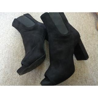 エイチアンドエム(H&M)のブーツサンダル スウェード素材 37(ブーツ)
