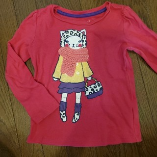 ベビーギャップ(babyGAP)のピンク ロンT(Tシャツ/カットソー)