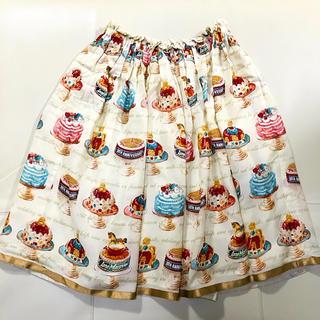 ジェーンマープル(JaneMarple)のアニバーサリーケーキ ミディスカート (ひざ丈スカート)