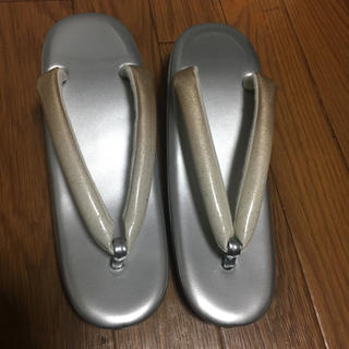 草履 和装 成人式 新品 シルバー 七五三 Lサイズ 24cm(下駄/草履)