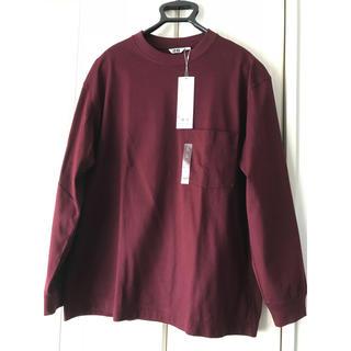 UNIQLO - ★ユニクロ // クルーネックTシャツ (ワイン L)