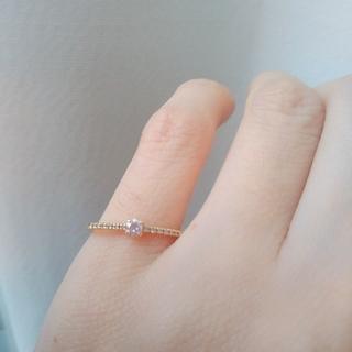 ♡K18♡ピンキーハーフエタニティダイヤモンド♡