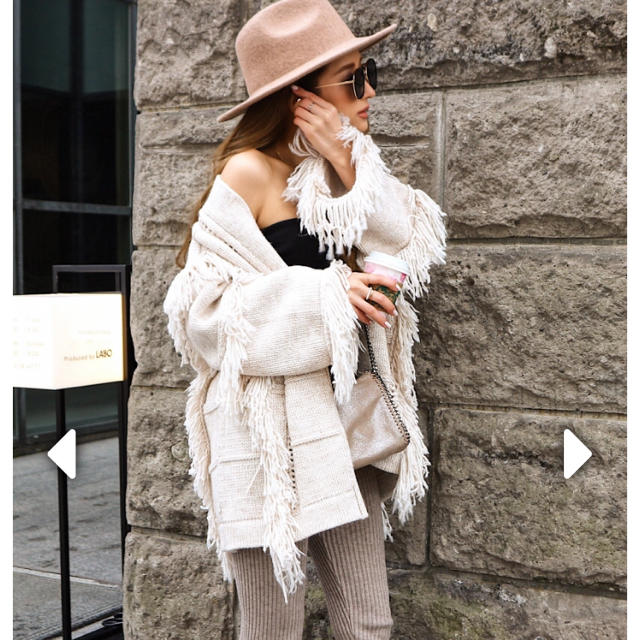 eimy istoire(エイミーイストワール)のlia closet フリンジカーディガン レディースのトップス(カーディガン)の商品写真