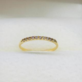 新品 K18 イエローゴールド ハーフエタニティ(リング(指輪))