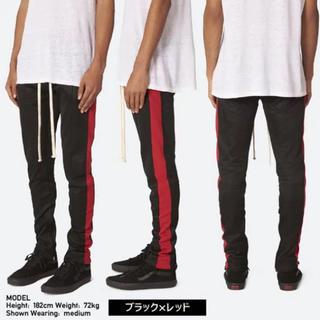 mnml Track Pants(ミニマル トラックパンツ)ブラック/レッド(その他)