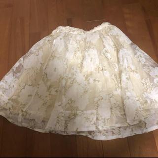 アンクルージュ(Ank Rouge)のAnk Rouge スカート 花柄(ひざ丈スカート)