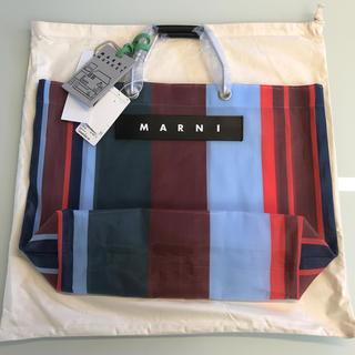 Marni - 新品タグ付 マルニ ストライプバッグ ラッカーレッド 新色 マルニフラワーカフェ