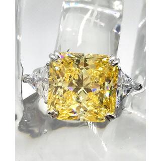 11号5A高級CZイエローダイヤモンド リング.シルバー925.プラチナコート(リング(指輪))