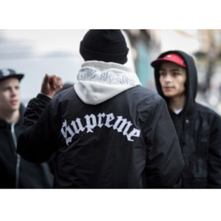 Supreme - 【S】Old English Coaches Jacket / Black