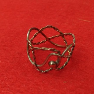 彫金指輪(ミツアミ1)(リング(指輪))