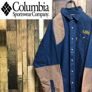 Columbia - 【激レア】コロンビア☆刺繍ロゴ・ロゴタグ入りデニムハンティングシャツ 90s