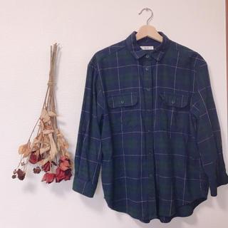 ニコアンド(niko and...)のニコアンド   グリーンチェックシャツ(シャツ/ブラウス(長袖/七分))