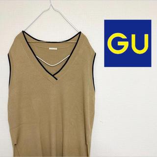 "GU - 古着 ""GU""ベストニット"