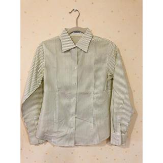 ニューヨーカー(NEWYORKER)のNew Yorker 緑ストライプシャツ(シャツ/ブラウス(長袖/七分))