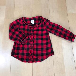 ベビーギャップ(babyGAP)のbaby GAP 赤チェックシャツ(ブラウス)