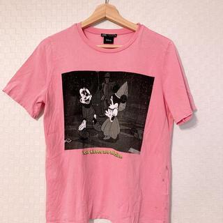 ザラ(ZARA)のザラ ピンク ディズニーTシャツ(Tシャツ(半袖/袖なし))