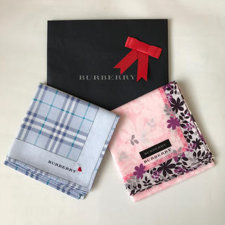 BURBERRY - BURBERRY 大判ハンカチ 2枚組