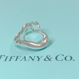 Tiffany & Co. - ティファニー オープンハート リング 10号