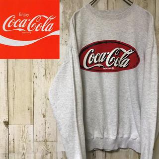 コカ・コーラ - 【激レア】コカコーラ☆ビッグ プリントロゴ スウェット トレーナー #1210