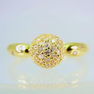 K18 ダイヤモンド リング 12号 [f69-4](リング(指輪))