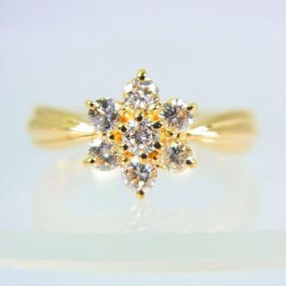 K18 ダイヤモンド リング 11号 [f69-5](リング(指輪))