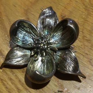 Tiffany & Co. - ティファニー 925 シルバー ブローチ 花デザイン