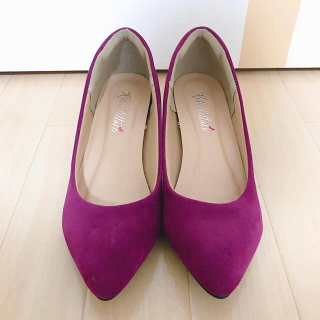 ワインレッド パンプス レディースの靴/シューズ(ハイヒール/パンプス)の商品写真
