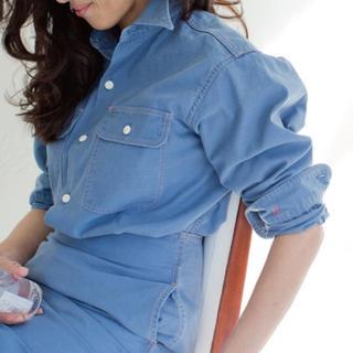 MADISONBLUE - マディソンブルー ハンプトンバックサテンシャツ ブルー02